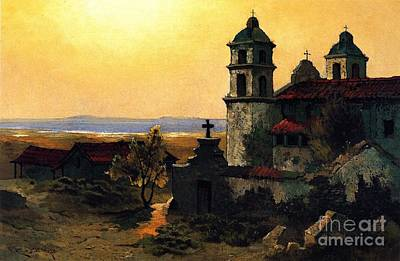Painting - Santa Barbara Mission by Pg Reproductions