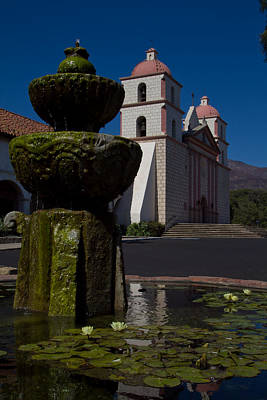 Photograph - Santa Barbara Mission by Roger Mullenhour