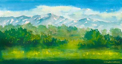 Painting - Santa Barbara Mountains by Douglas Castleman