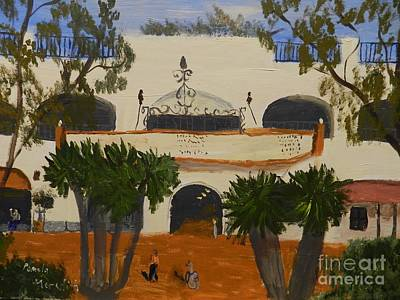 Painting - Santa Barbara Movie Theatre by Pamela  Meredith
