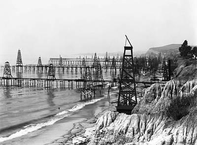 Summerland Photograph - Santa Barbara Oil Field C. 1902 by Daniel Hagerman