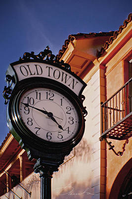 Photograph - Santa Barbara Old Town Clock by Danuta Bennett