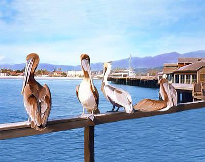 Photograph - Santa Barbara Pelicans by Kurt Van Wagner