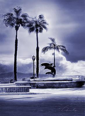 Photograph - Santa Barbara Pier Dolphins by Danuta Bennett