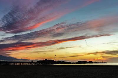 Photograph - Santa Barbara Pier Sunrise by Kathleen McGinley