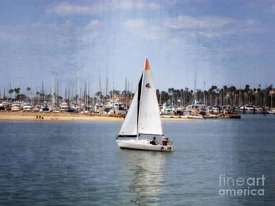 Photograph - Santa Barbara Sailing by Methune Hively