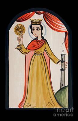 Painting - Santa Barbara - St. Barbara - Aobrb by Br Arturo Olivas OFS