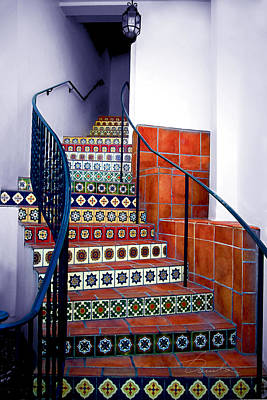 Photograph - Santa Barbara Stairs by Danuta Bennett