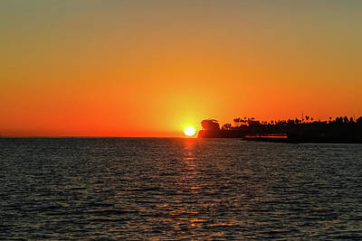 Photograph - Santa Barbara Sunset by Kathleen McGinley