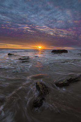 Beach Landscape Photograph - Santa Barbara Tides by Jeremy Jensen