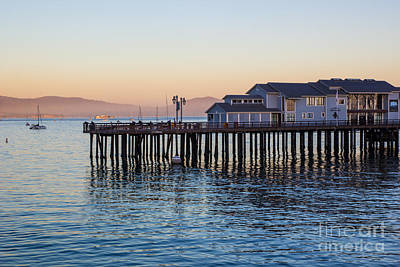 Photograph - Santa Barbara Wharf At Sunset by Suzanne Luft