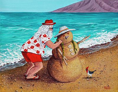 Painting - Santa Building A Sandman by Darice Machel McGuire
