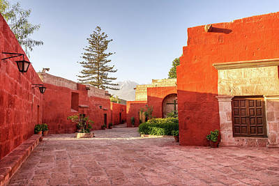 Santa Catalina Monastery Courtyard Art Print by Jess Kraft