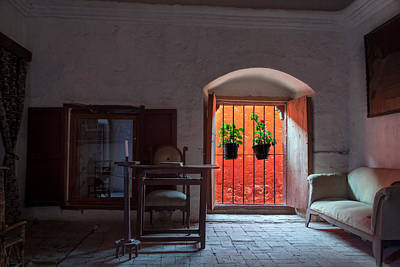 Santa Catalina Monastery Window Art Print by Jess Kraft