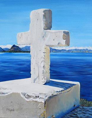 Panajachel Painting - Santa Catarina's Cross by Marilyn  McNish