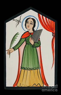 Painting - Santa Cecilia - St. Cecilia - Aoccl by Br Arturo Olivas OFS