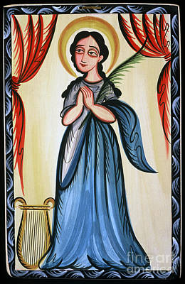 St Cecilia Painting - Santa Cecilia - St. Cecilia - Aocec by Br Arturo Olivas OFS