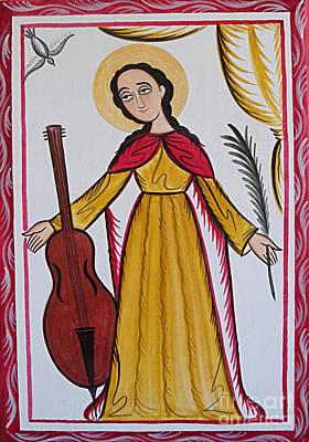 Painting - Santa Cecilia - St. Cecilia - Aocic by Br Arturo Olivas OFS