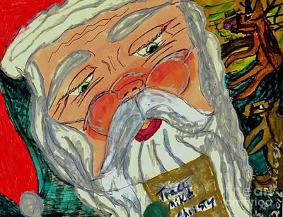 Santa Checking Out  His List Original