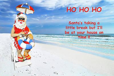 Photograph - Santa Christmas Greeting Card by Kay Brewer