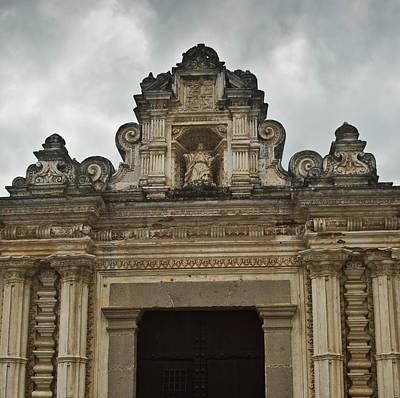 Lintel Photograph - Santa Clara Antigua Guatemala Ruins  by Douglas Barnett