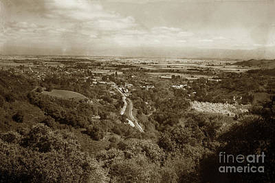 Photograph - Santa Clara Valley From Above Los Gatos Circa 1926 by California Views Mr Pat Hathaway Archives