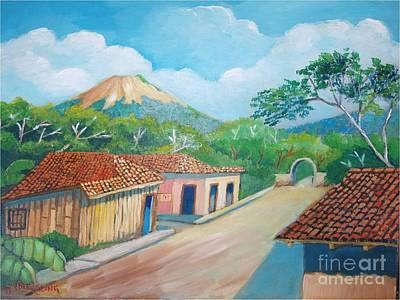 Painting - Santa Clara Volcano by Jean Pierre Bergoeing