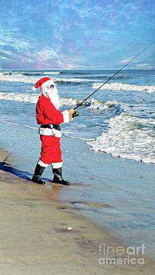 Photograph - Santa Claus At The Beach by Benanne Stiens