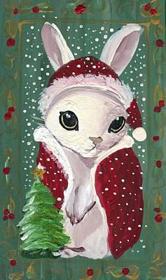 Santa Claus Bunny Art Print by Sylvia Pimental