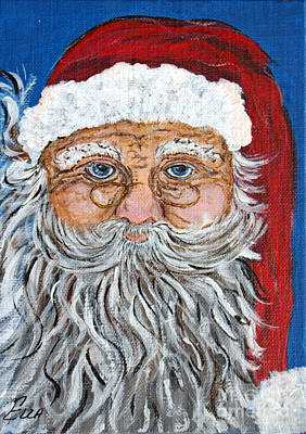 Painting - Santa Claus - Christmas Art by Ella Kaye Dickey