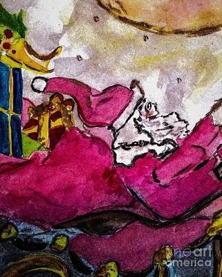 Santa Painting - Santa Claus by Elizabeth Briggs