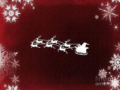 Digital Art - Santa Claus Is Coming To Town by Erika H
