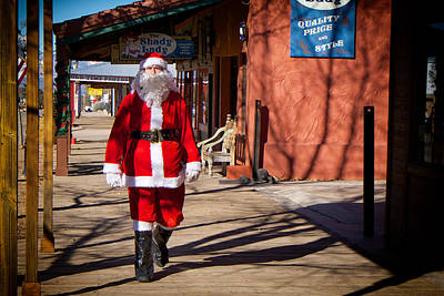 Photograph - Santa Claus Is Coming To Town In Tombstone Arizona by Mary Lee Dereske