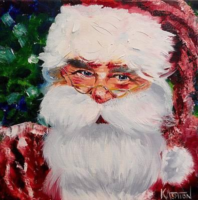 Pai Painting - Santa Claus by Kay Ashton