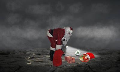 Mixed Media - Santa Claus by Marvin Blaine