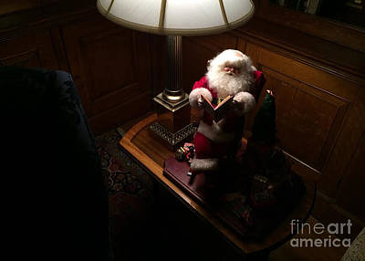 Photograph - Santa Claus Resting by Edward Sobuta