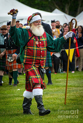 Santa Claus - Scottish Festival And Highland Games Art Print by Gary Whitton