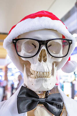 Photograph - Santa Claus Skeleton by Benny Marty