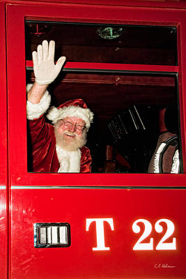 Photograph - Santa Clause Arrives by Christopher Holmes