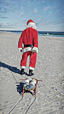 Photograph - Santa Collecting Shells by Benanne Stiens
