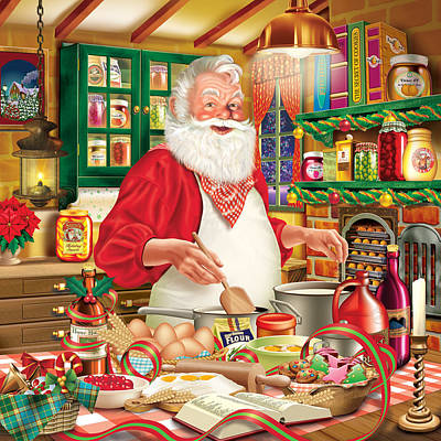 Santa Cooking Original
