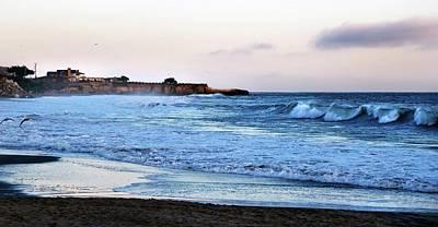 Photograph - Santa Cruz Bay Waves by Marilyn MacCrakin