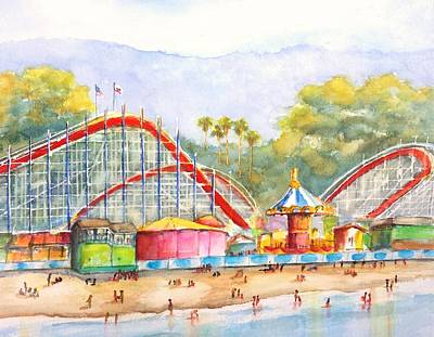 Painting - Santa Cruz Beach Boardwalk by Carlin Blahnik