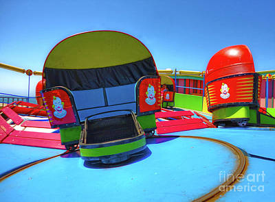 Photograph - Santa Cruz Boardwalk Carnival Ride by Gregory Dyer