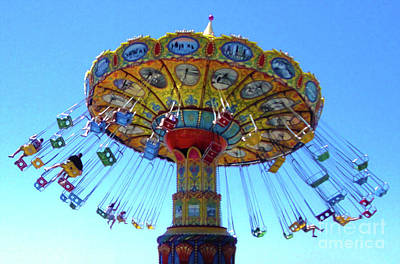 Photograph - Santa Cruz Boardwalk Chair-o-plane by Gregory Dyer