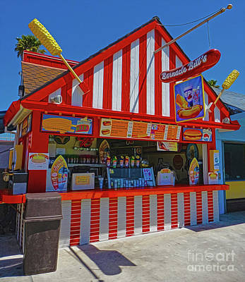 Photograph - Santa Cruz Boardwalk Hot Dog Stand by Gregory Dyer