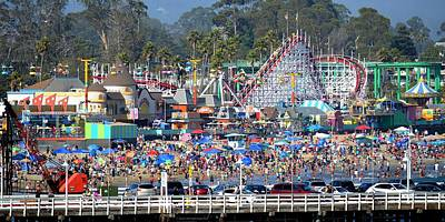 Photograph - Santa Cruz Boardwalk by KJ Swan