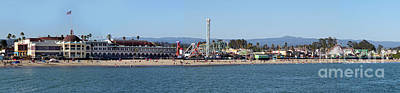 Photograph - Santa Cruz Boardwalk Panorama by Gregory Dyer
