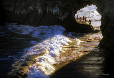 Photograph - Santa Cruz 'bridge' California Coastline by John A Rodriguez