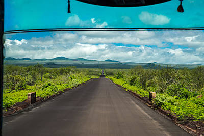 Photograph - Santa Cruz Bus Ride From Baltra Ferry To Puerto Ayora by Harry Strharsky